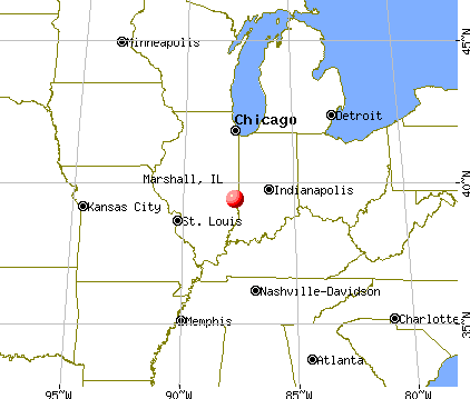 Marshall, Illinois map