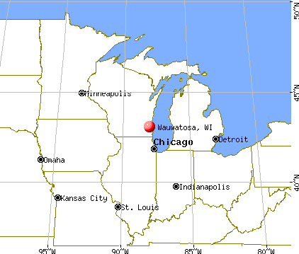 Wauwatosa, Wisconsin map
