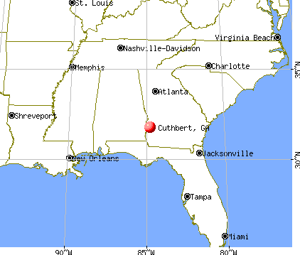 Cuthbert, Georgia map