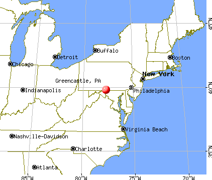 Greencastle, Pennsylvania map