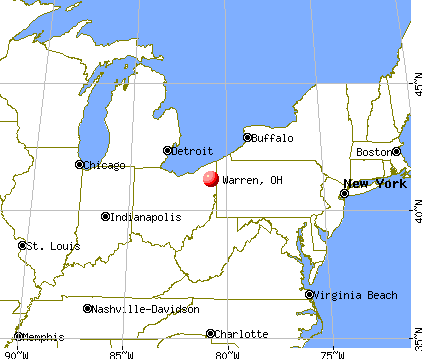 Warren, Ohio map