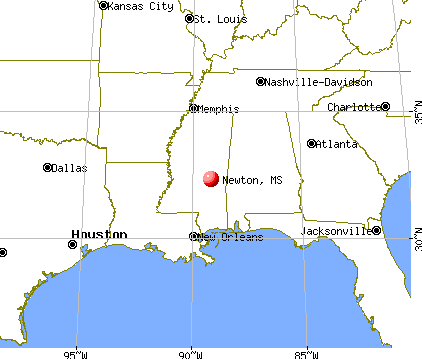 Newton, Mississippi map