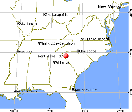 Northlake, South Carolina map