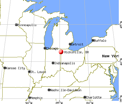 Hicksville, Ohio map