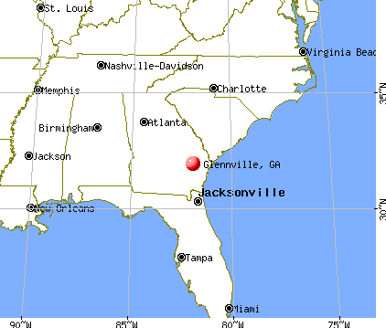 Glennville, Georgia map