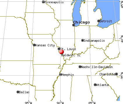 Baldwin, Illinois map