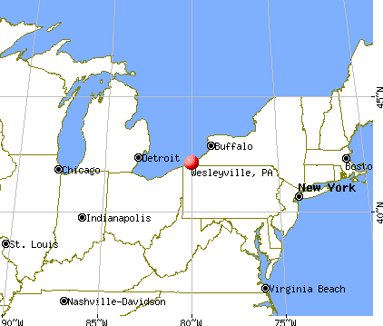 Wesleyville, Pennsylvania map