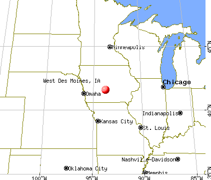 West Des Moines, Iowa map