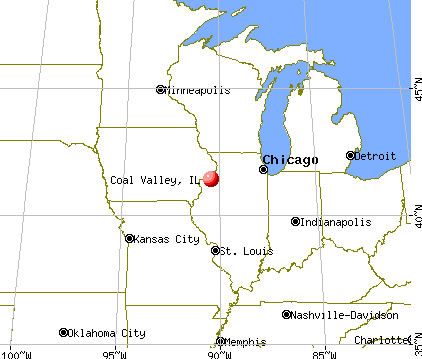 Coal Valley, Illinois map