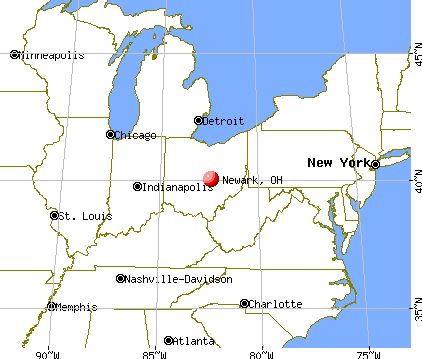Newark, Ohio map