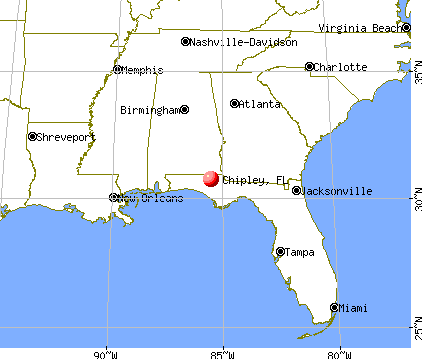 Chipley, Florida map