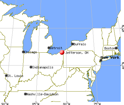 Jefferson, Ohio map