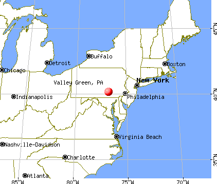 Valley Green, Pennsylvania map