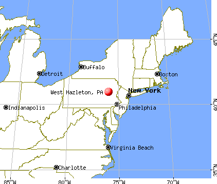 West Hazleton, Pennsylvania map