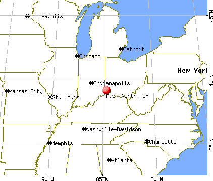 Mack North, Ohio map