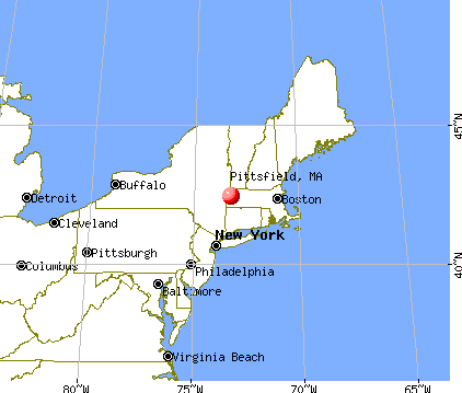 Pittsfield, Massachusetts map