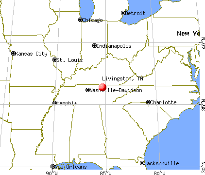 Livingston, Tennessee map