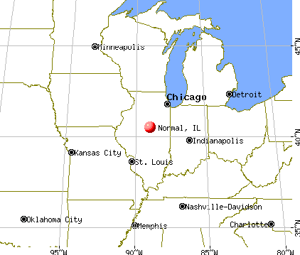Normal, Illinois map