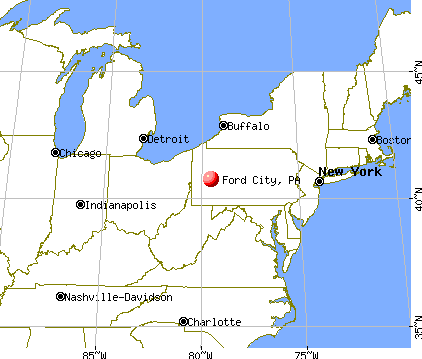 Ford City, Pennsylvania map