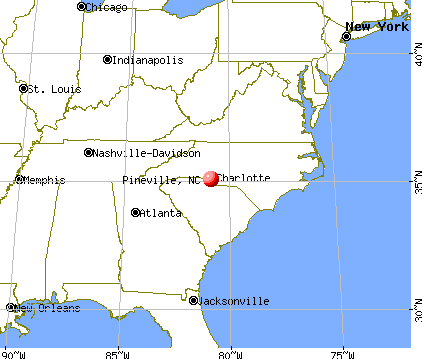 Pineville, North Carolina map