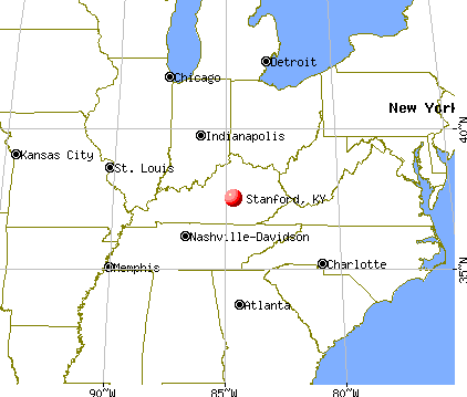 Stanford, Kentucky map