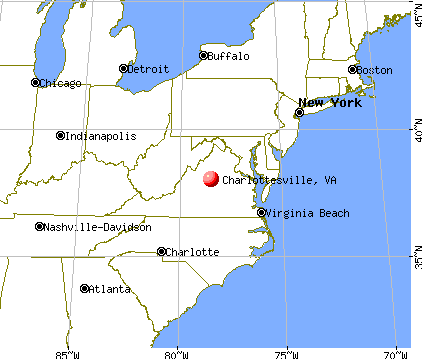 Charlottesville, Virginia map