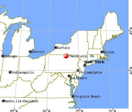 Mansfield, Pennsylvania map
