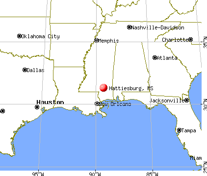 Hattiesburg, Mississippi map