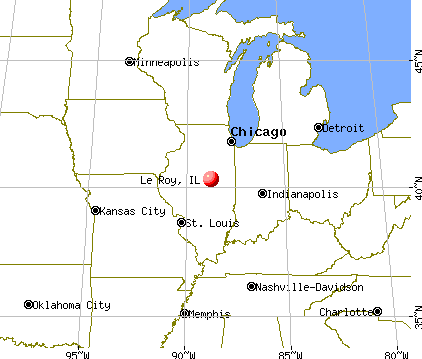 Le Roy, Illinois map