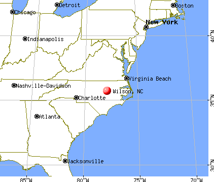 Wilson, North Carolina map