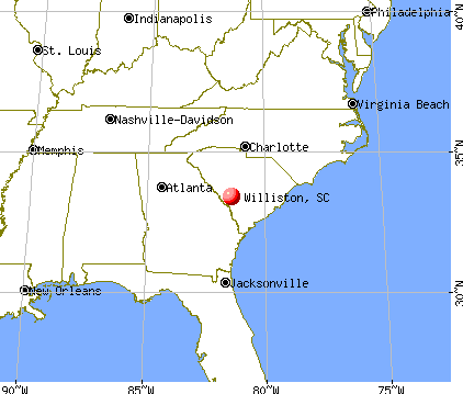 Williston, South Carolina map