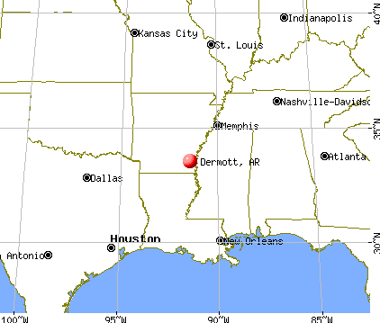 Dermott, Arkansas map