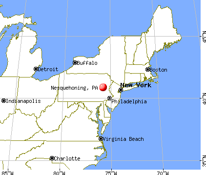 Nesquehoning, Pennsylvania map