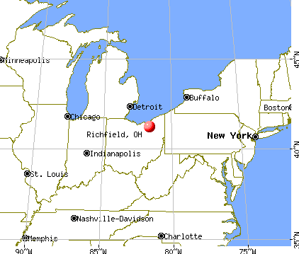 Richfield, Ohio map