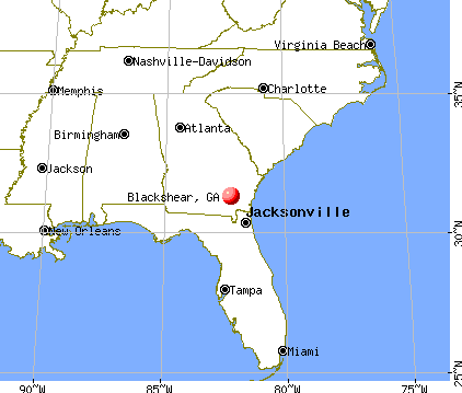Blackshear, Georgia map