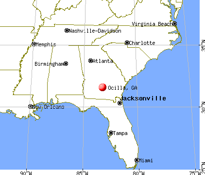 Ocilla, Georgia map