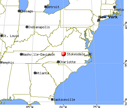 Stokesdale, North Carolina map