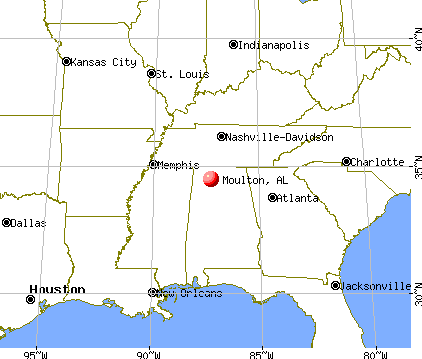 Moulton, Alabama map