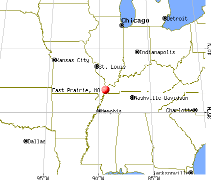 East Prairie, Missouri map