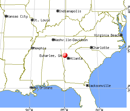 Euharlee, Georgia map