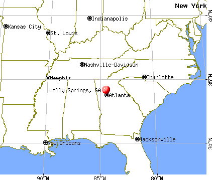 Holly Springs, Georgia map