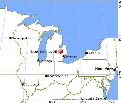 Mount Morris, Michigan map