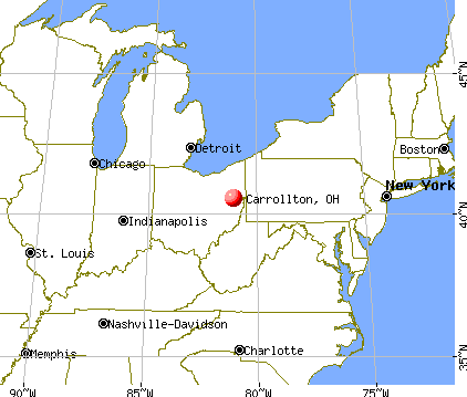 Carrollton, Ohio map