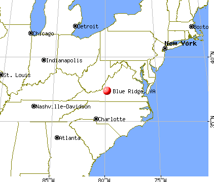 Blue Ridge, Virginia map