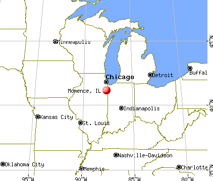 Momence, Illinois map