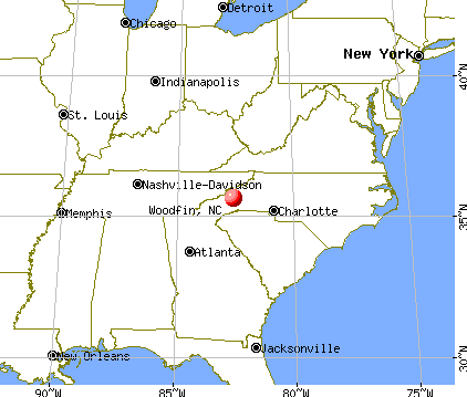 Woodfin, North Carolina map