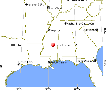 Pearl River, Mississippi map