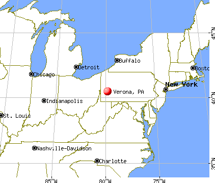Verona, Pennsylvania map