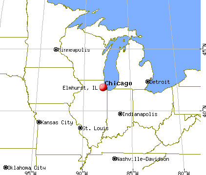 Elmhurst, Illinois map