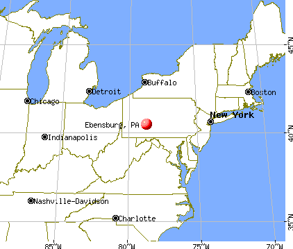 Ebensburg, Pennsylvania map
